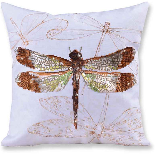 Diamond Dotz Dragonfly Earth Decorative Pillow