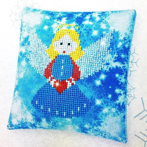 Decorative Christmas Angel Mini Pillow Case