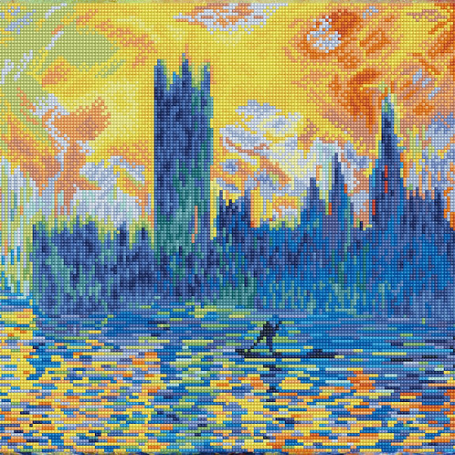 London Parliament in Winter (après Monet)