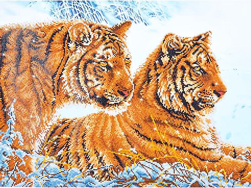 Diamond Dotz Tigers In The Snow Diamond Facet Art Kit