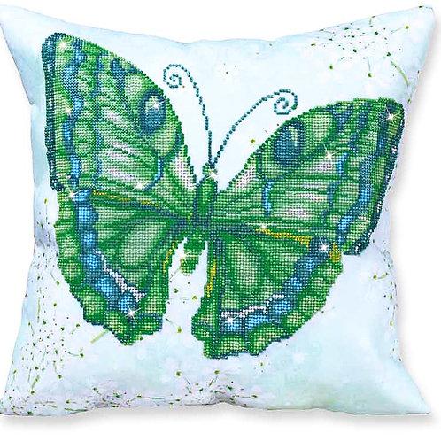 Diamond Dotz Papillon Vert Decorative Pillow