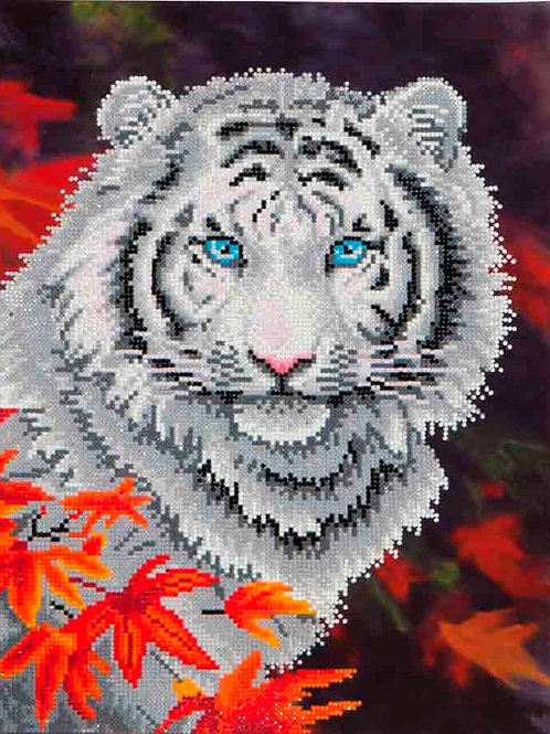 Diamond Dotz White Tiger In Autumn Diamond Facet Art Kit