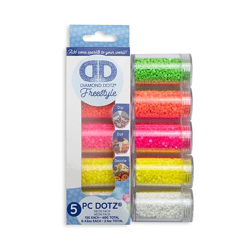 Dotz® Sampler Pack Neon (3001, 3002, 3003, 3004, 4001)
