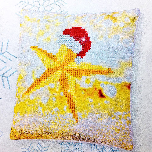 Diamond Dotz Christmas Star Mini Pillow