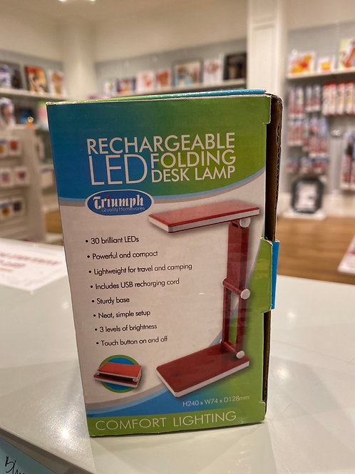 Red Triumph Rechargeable LED Folding Desk Lamp