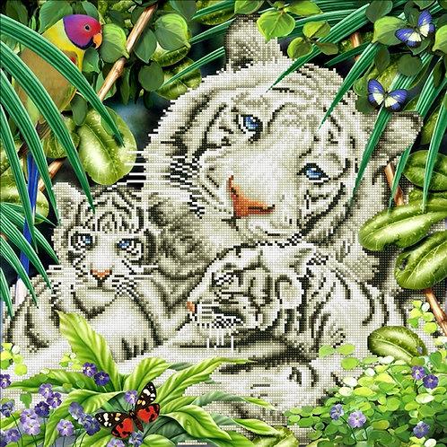 Diamond Dotz site Tiger & Cubs Diamond Facet Art Kit