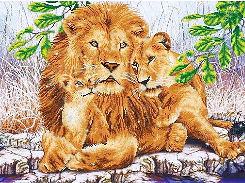 Diamond Dotz Lion Family Diamond Facet Art Kit