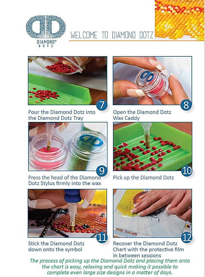 Diamond Dotz Complete Step By Step Guide Of How To Start The Kit