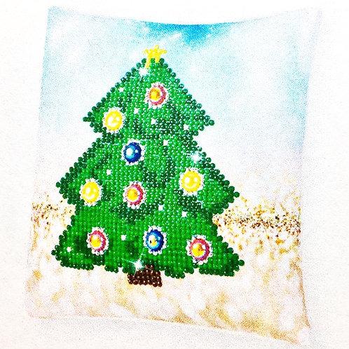 Diamond Dotz Christmas Tree Mini Pillow
