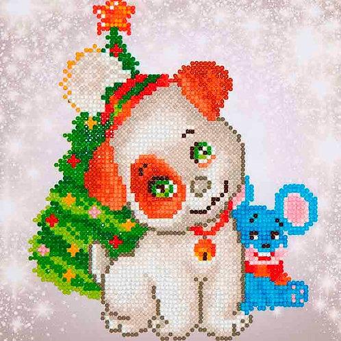 Diamond Dotz Christmas Pup & Mouse Diamond Facet Art Kit
