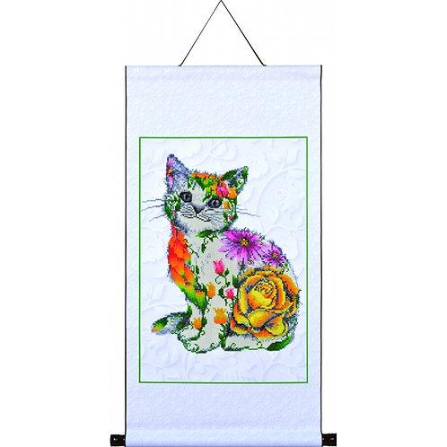 Flower Puss Scroll
