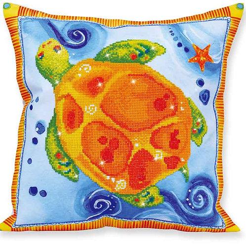 Diamond Dotz Turtle Journey Decorative Pillow