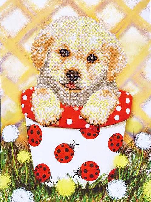 Diamond Dotz Pup In Pot Diamond Facet Art Kit