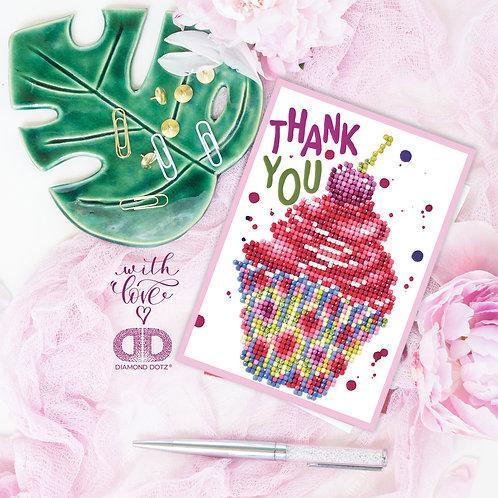 Cupcake Thank You Greeting Card