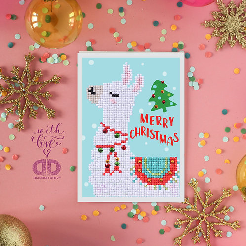 Merry Christmas Llama Greeting Card