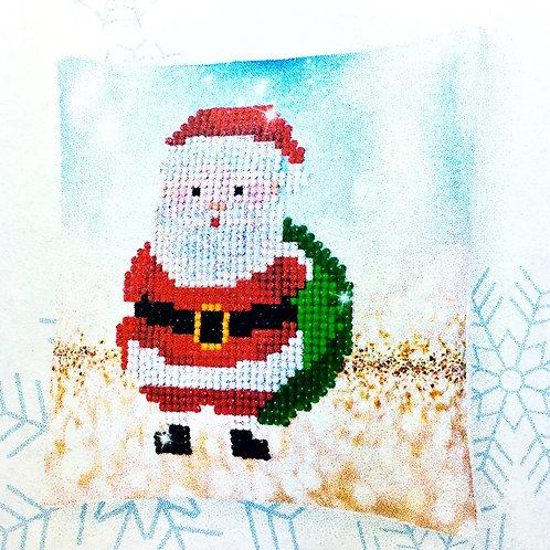 Diamond Dotz Christmas Santa Claus Mini Pillow