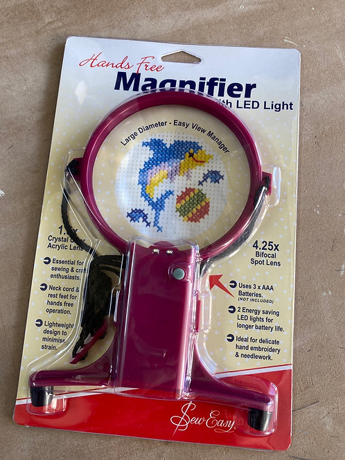 Hands Free Magnifier With LED Light