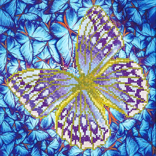 Diamond Dotz Flutter By Silver Diamond Facet Art Kit