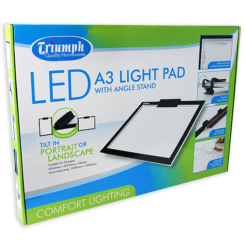 A3 Size LED Light Pad with Stand