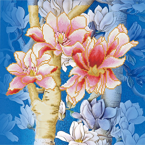 Magnolias On Blue 1 Pillowcase