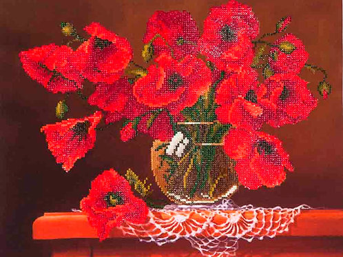 Diamond Dotz Red Poppies Diamond Facet Art Kit
