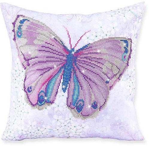 Papillon Mauve Decorative Pillow Diamond Facet Art