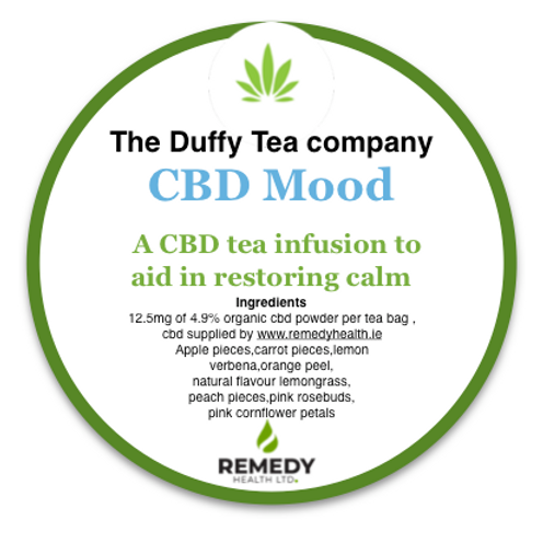 CBD Tea infusion to aid in restoring calm