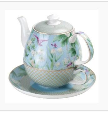 Ciara collection  personal pot , cup and saucer set
