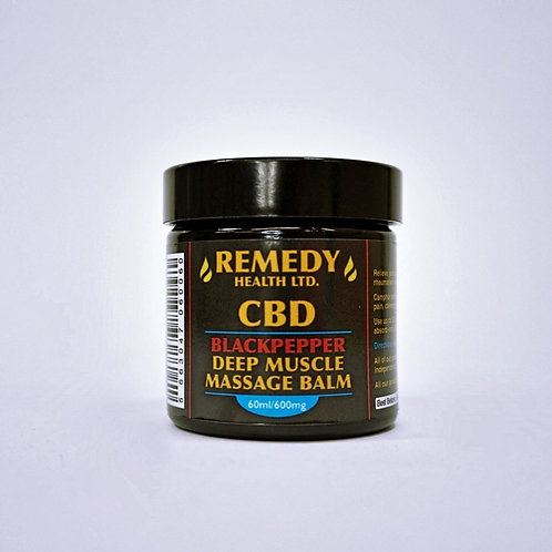 Deep muscle CBD black pepper balm