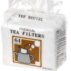 Disposable drawstring self fill tea bags 64pcs