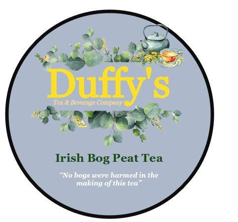 Irish bog peat tea .