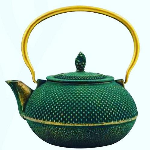 Tetsubin cast iron pots geen/gold red/gold