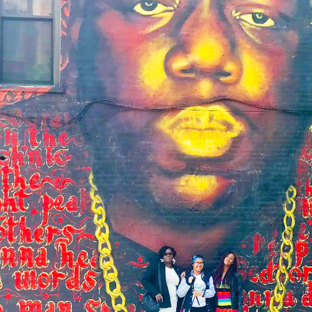 Biggie Smalls Mural in Brooklyn