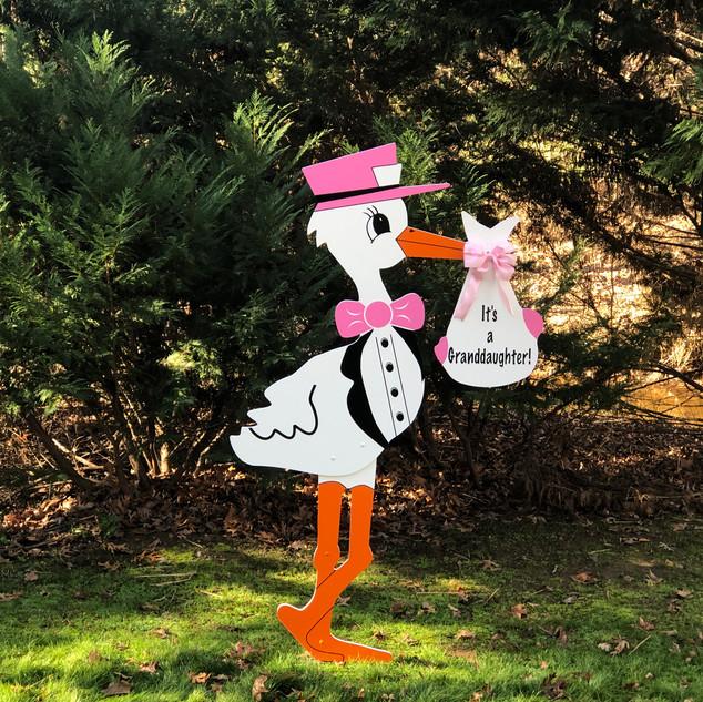 It's a Granddaughter stork!