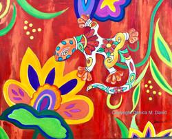 Gecko-Heat-painting