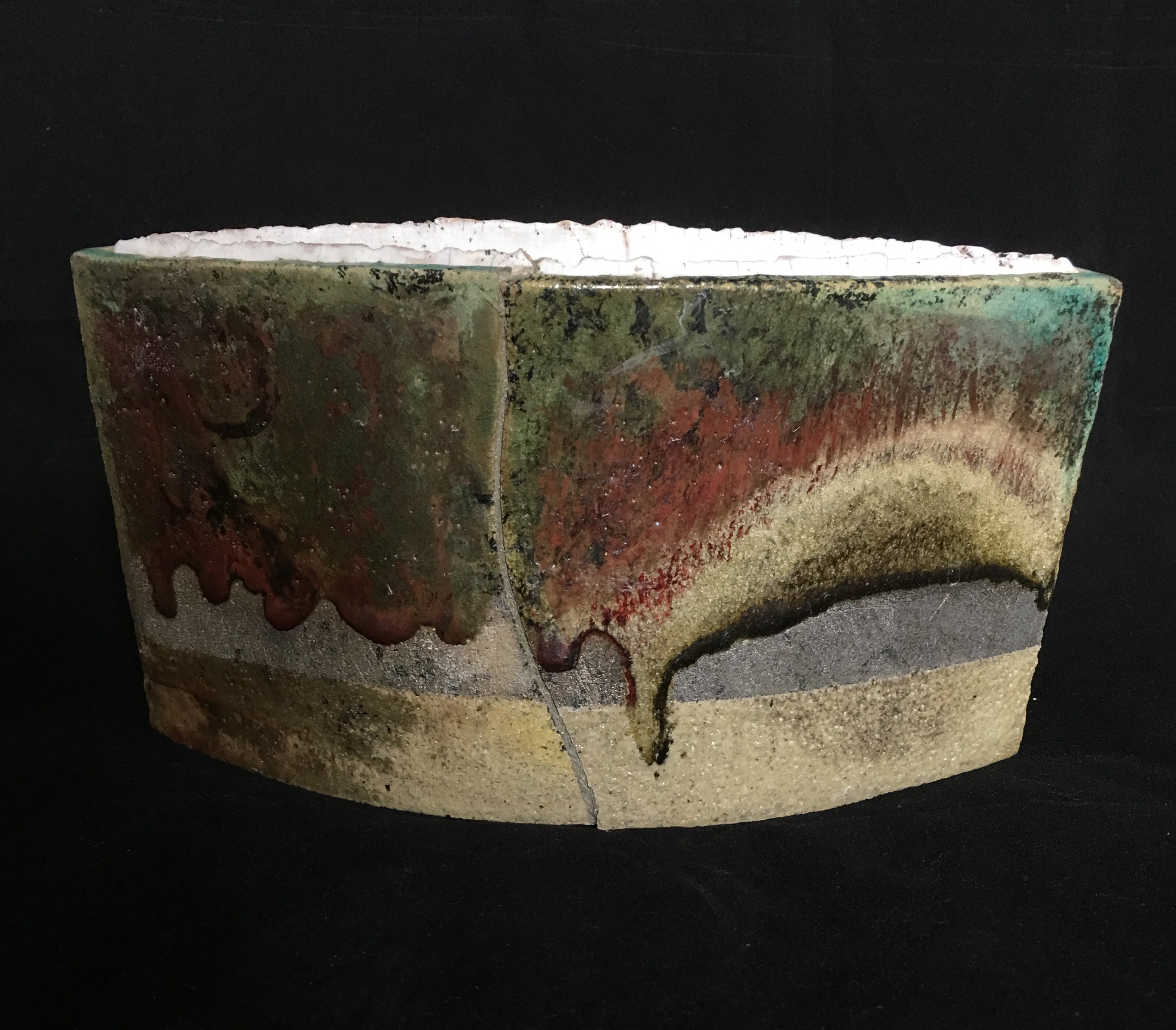 Raku two-skinned vessel