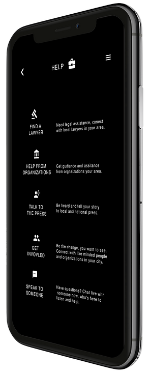 Reyets app help screen, Know your rights, Block Chain