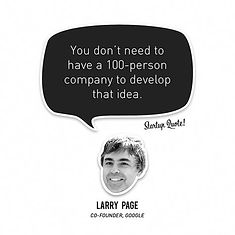 Larry page startup qoute