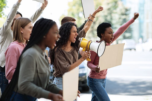 active-young-people-making-strike-on-the-street-NP57YSE.jpg
