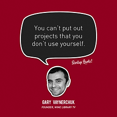 You can't put out projects that you don'