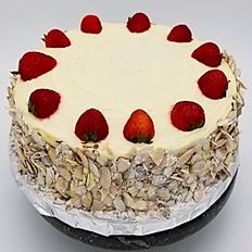 Almond Strawberry Cake