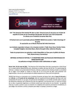 TAFFNY21 Press Release - ESP