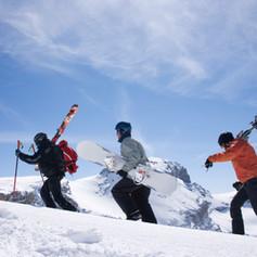 Snowboard or skiing.