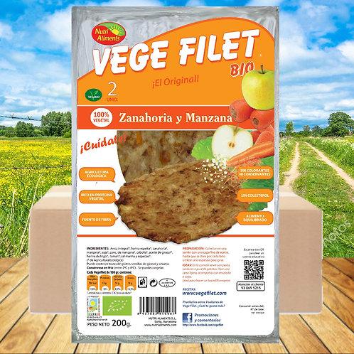 10 paq. Vege Filet Zanahoria y Manzana Bio ( 2 unid. paq.)