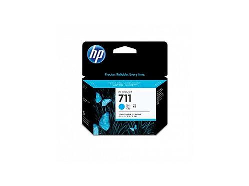 TINTA HP 711 CYAN P/3PZS  PLOTTER T120 (CZ134A)