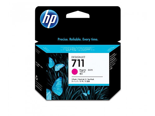 TINTA HP 711 MAGENTA P/3PZS PLOTTER T120 (CZ135A)