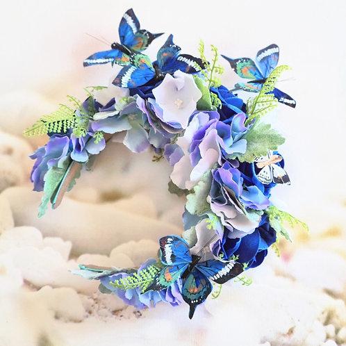 Blue Butterfly Flower Crown