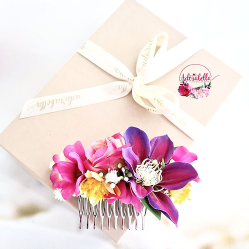 Summer Jewels Flower Comb