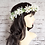 Thumbnail: Ivory Flower Crown & Comb Set