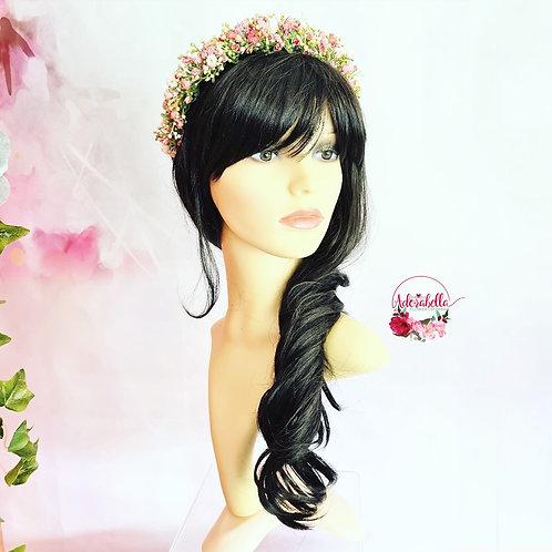Pink Gypsophila Floral Headband